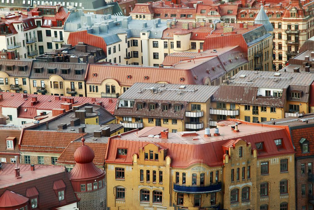 Colorful roofs, Gothenburg, Sweden