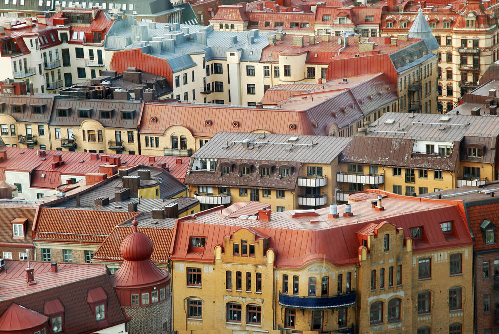 Colorful roofs, Gothenburg