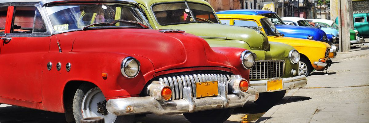 Colorful vintage cars, Havana, Cuba
