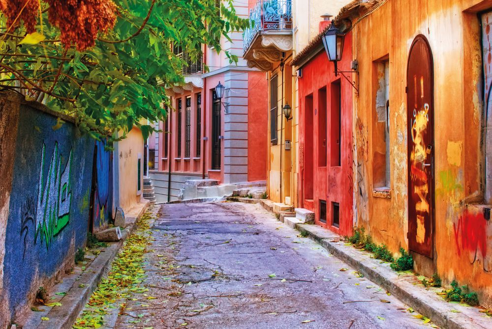 Colourful Houses, Athens, Greece, Eurrope