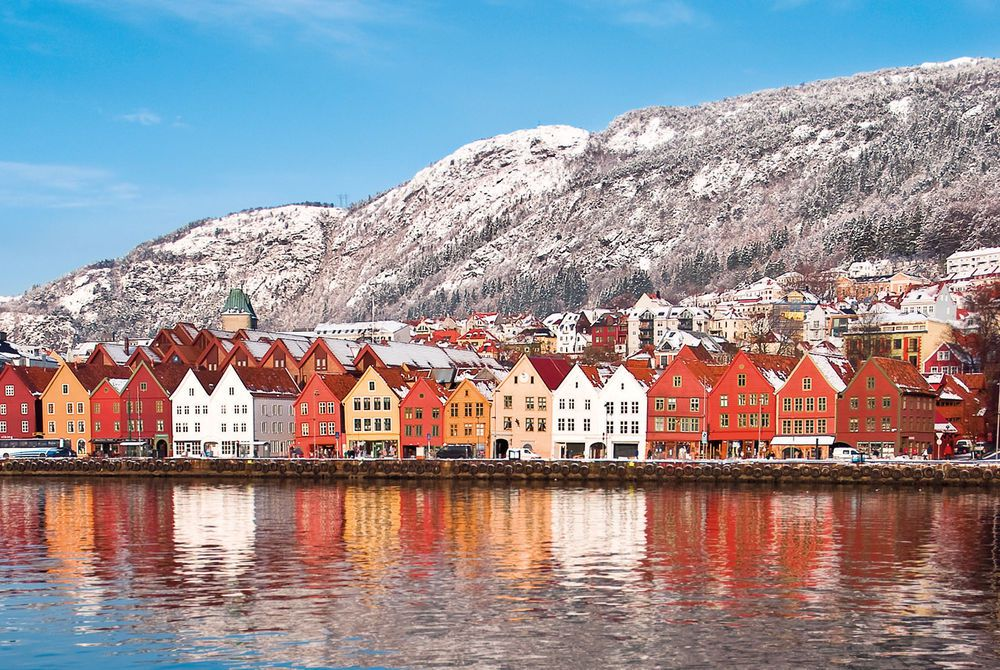 Colourful Houses, Bergen, Norway
