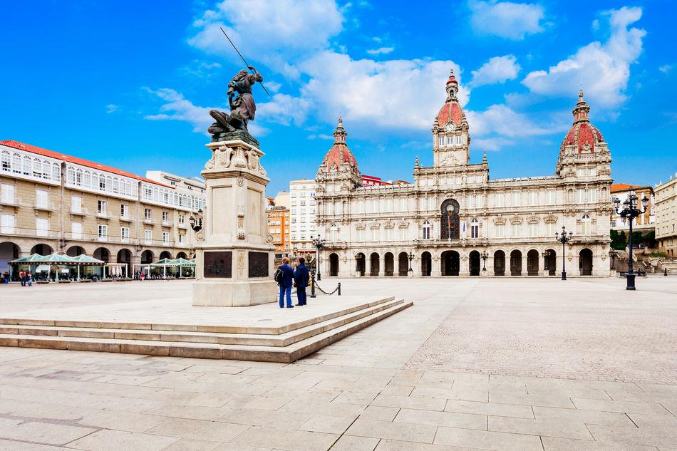 A Coruña old town, Galicia