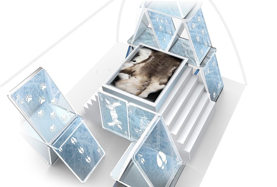 Concept for a bedroom at the ICEHOTEL, winter 2016/2017