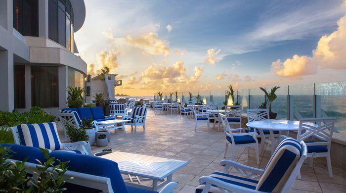 East facing terrace, Condado Vanderbilt Hotel