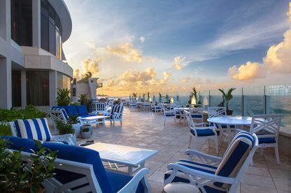 East facing terrace, Condado Vanderbilt Hotel