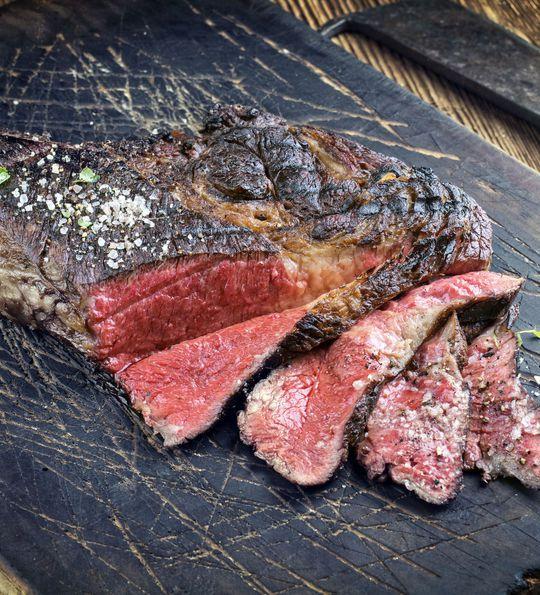 Cooking kobe beef, Japan