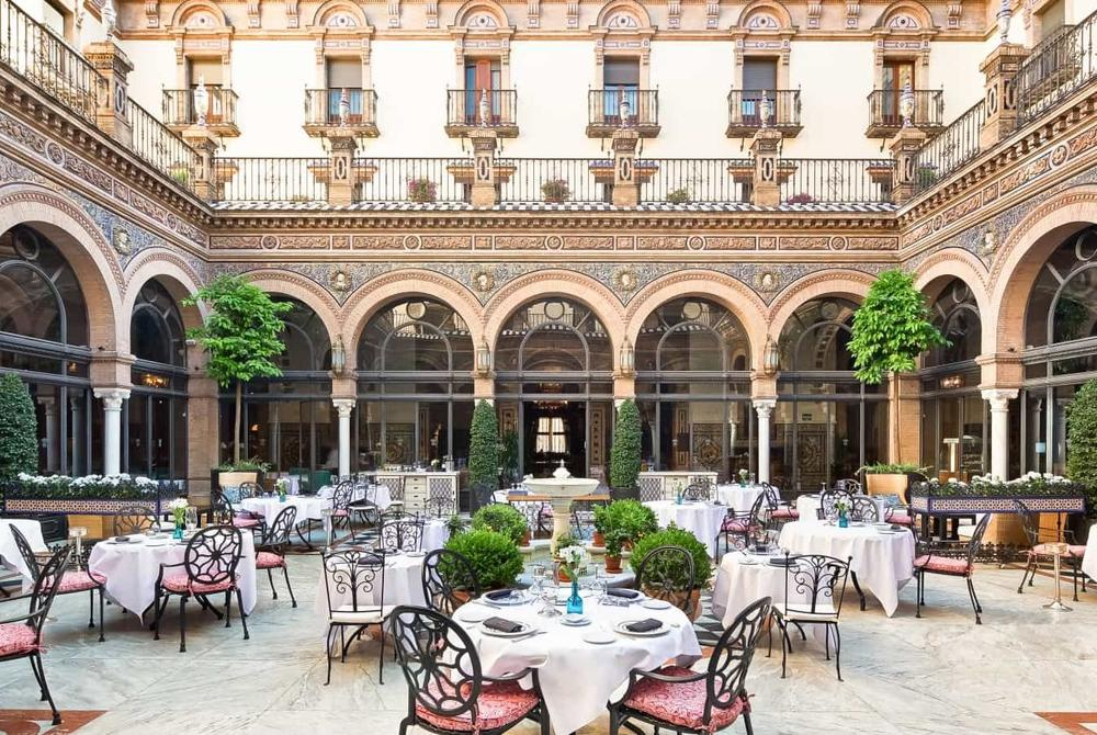 Courtyard, Hotel Alfonso XIII, Seville, Spain