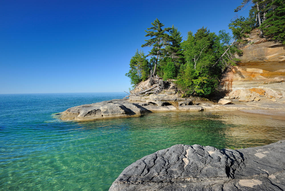 A cove in Lake Superior, Minnesota