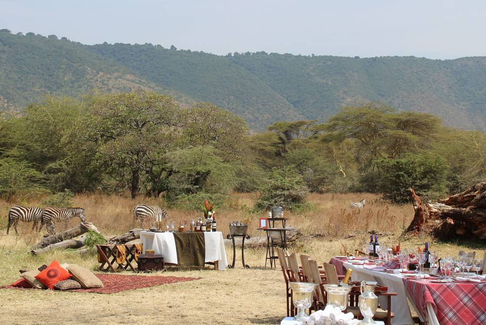 Crater floor lunch, Elewana The Manor at Ngorongoro