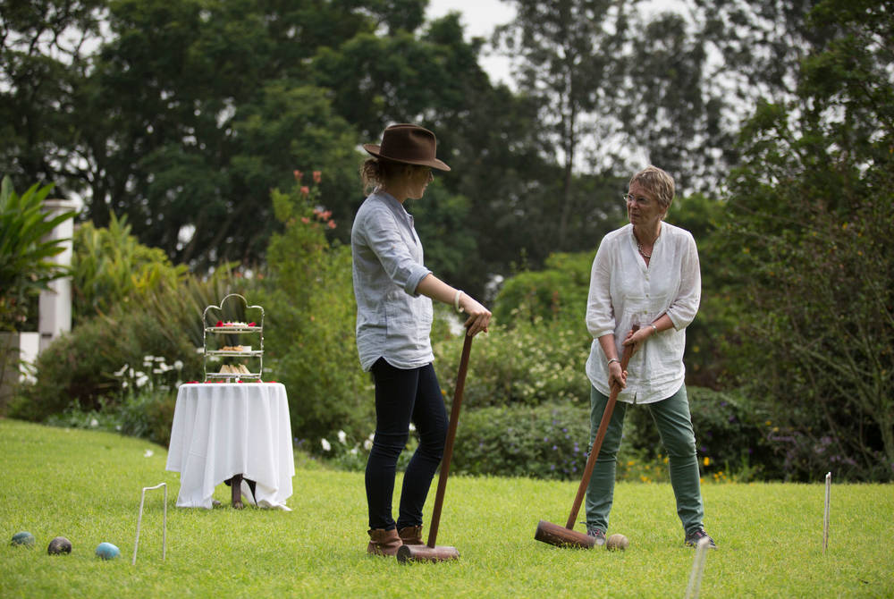 Croquet and high tea