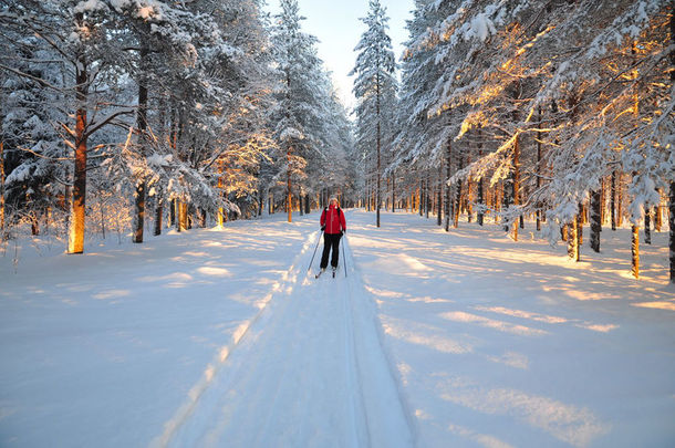 Cross-country skiing, Swedish Lapland