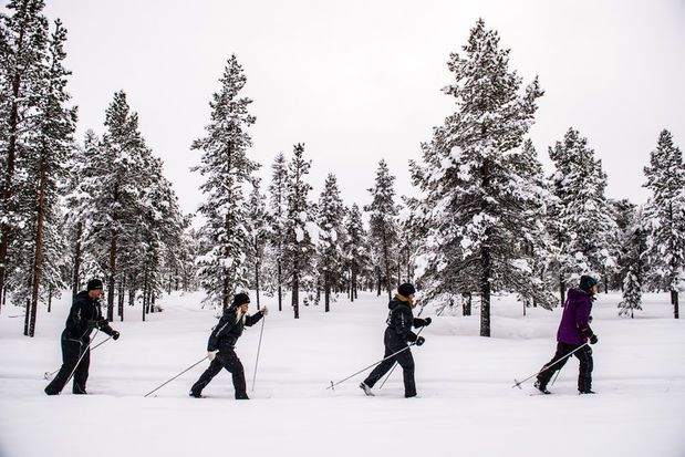 Cross country skiing at the ICEHOTEL in Swedish Lapland
