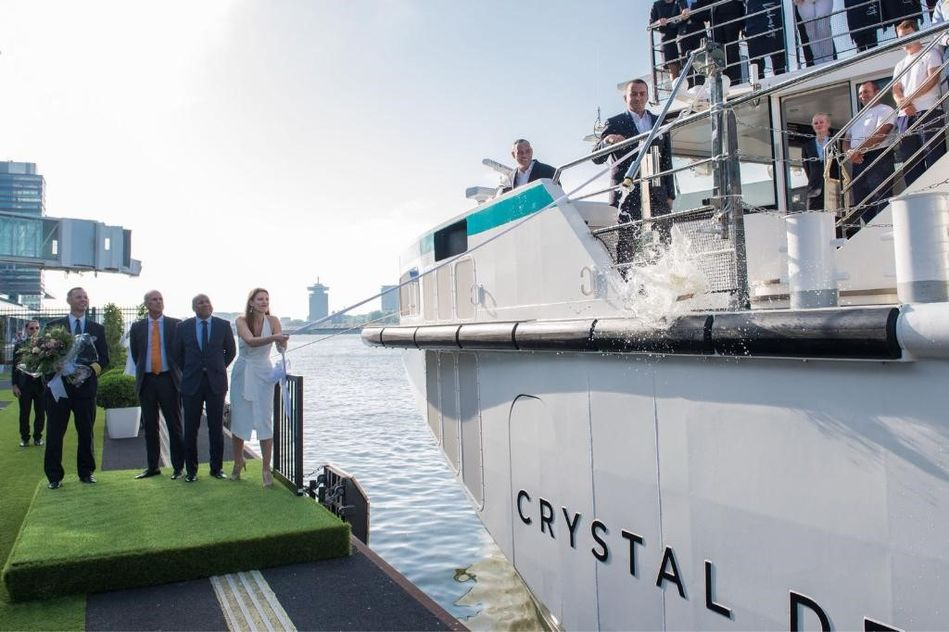 Captain Ferenc Captain Crystal Debussy Tom Wolber President CEO Crystal Cruises Walter Littlejohn Vice President and Managing Director Crystal River Cruises and Rachel York Godmother