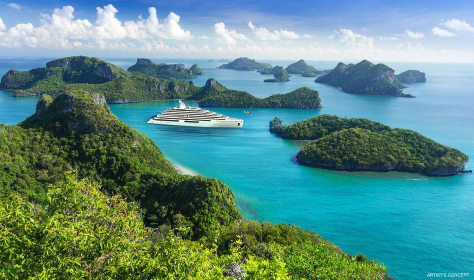 Crystal Endeavor in tropical waters