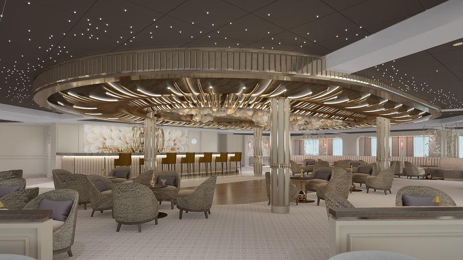 The Observation Lounge on Regent Cruises Seven Seas Splendor