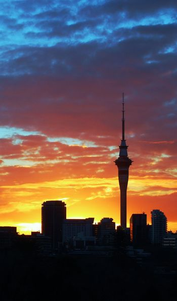 Auckland skyline at dawn