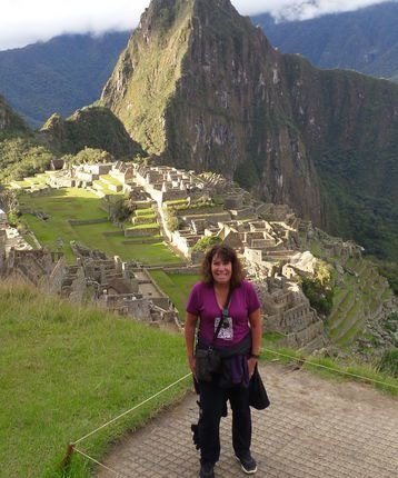 Debbie Mayger at Machu Picchu in Peru