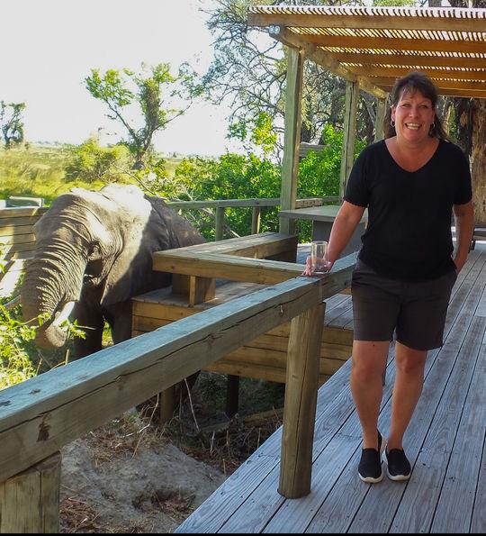 Debbie and elephant