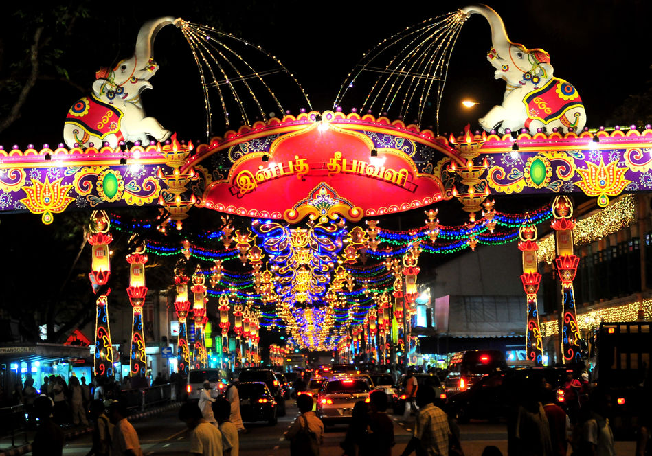 Deepali celebrations in Singapore's Little India