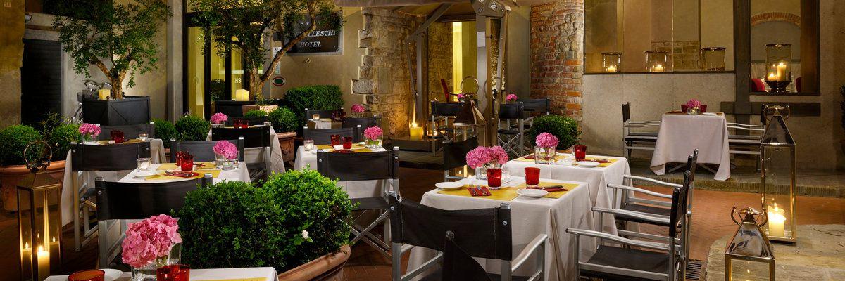 Dehor Osteria della Pagliazza, Hotel Brunelleschi, Florence