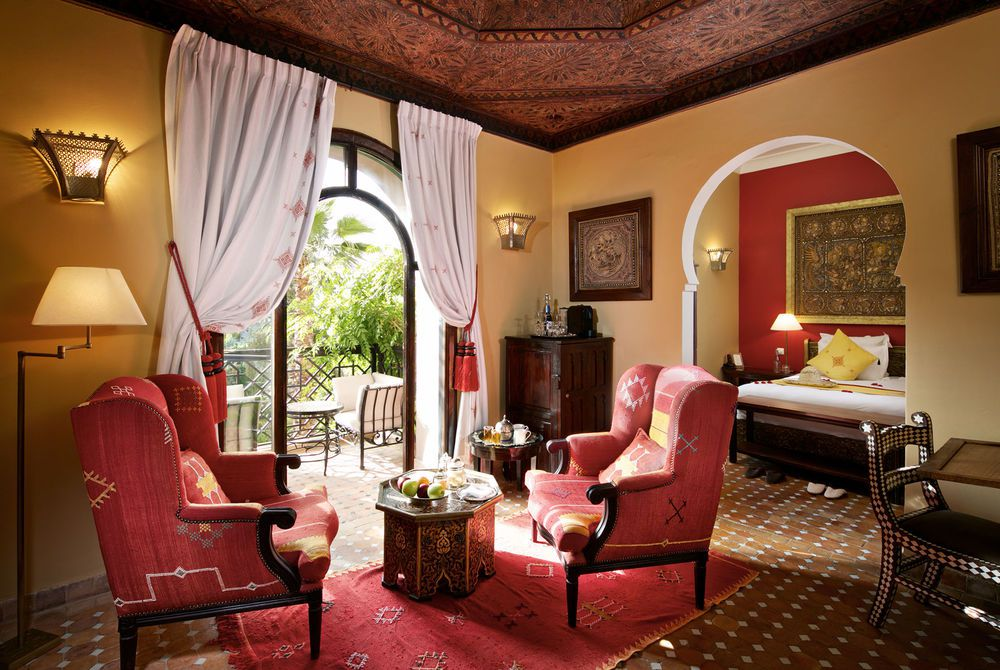 Deluxe Room Living Area, Kasbah Tamadot