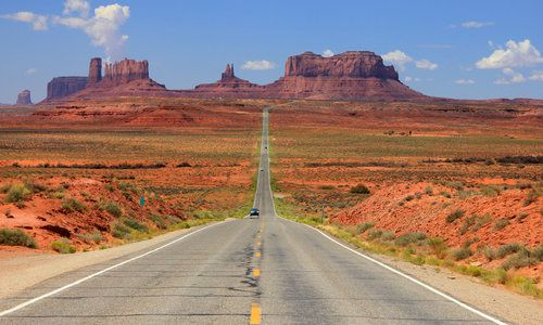 Desert Highway, Monument Valley, Utah