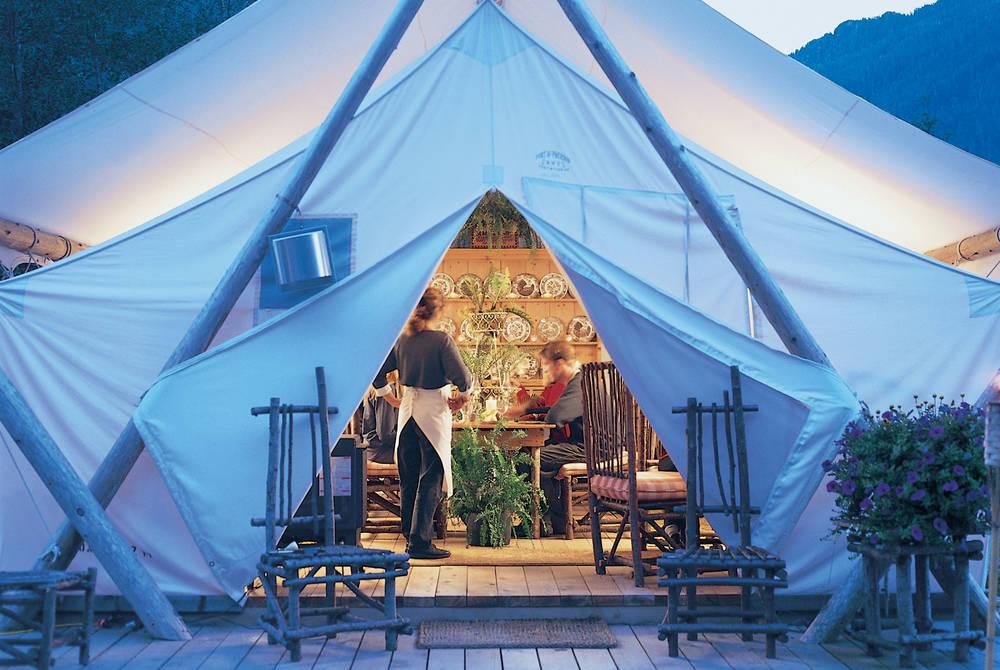 Diner Tent, Clayoquot Wilderness Resort