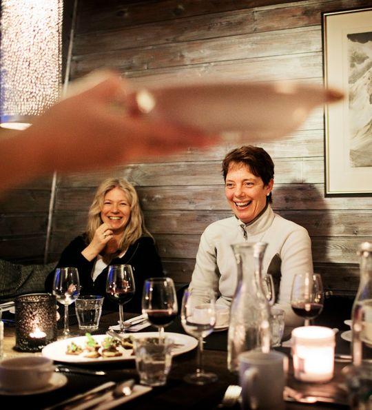 Dining at Isfjord Radio