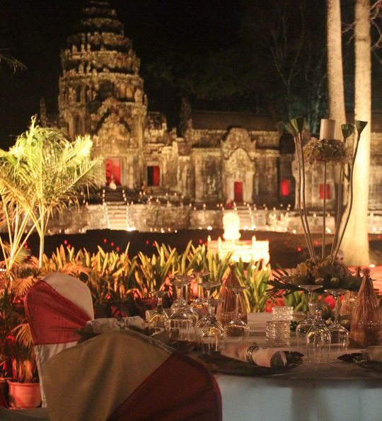 Dining experience at Angkor Wat in Siem Reap, Cambodia