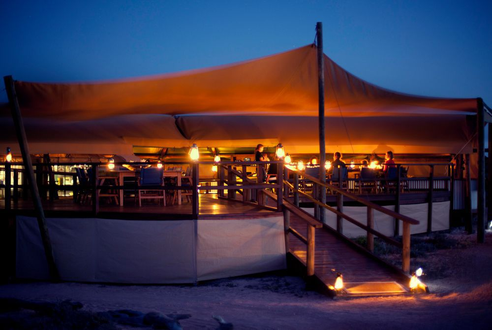 Dinner tent, Sal Salis, Ningaloo Reef