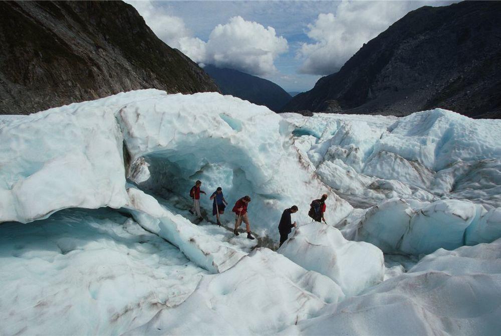 Distinction Fox Glacier walkers, New Zealand
