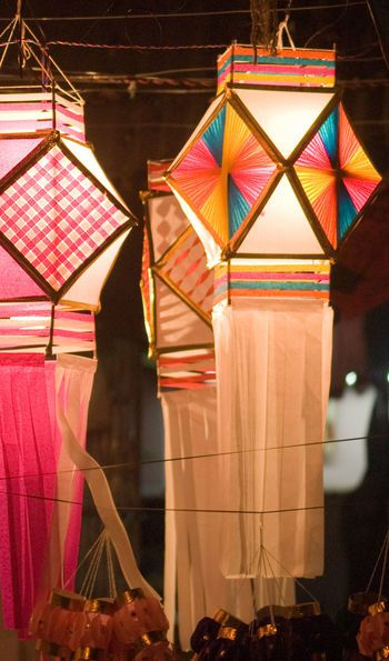 Diamond-panelled Diwali lanterns for sale