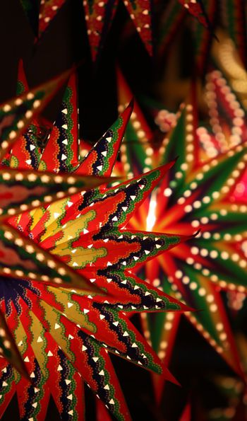 Paper star-shaped Diwali lanterns for sale