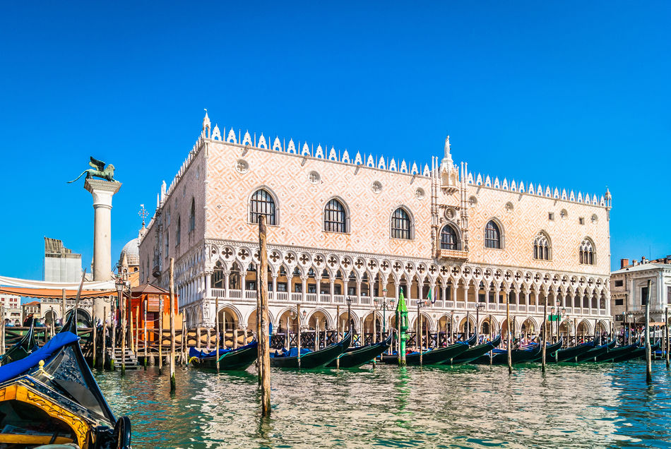 Exterior of Doge's Palace, Grand Canal, Venice