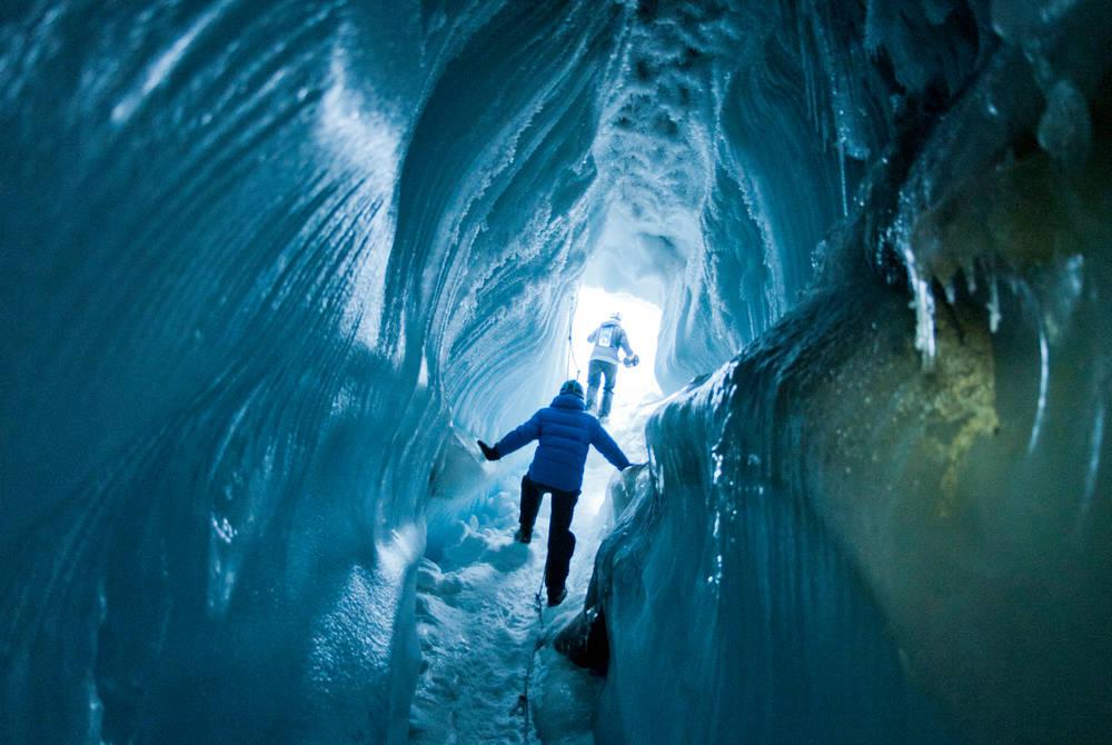Ice cave walk