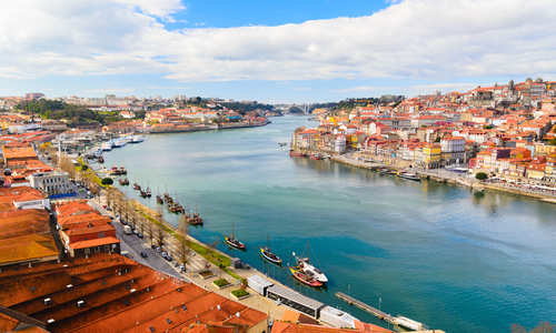Douro River at Porto, Portugal