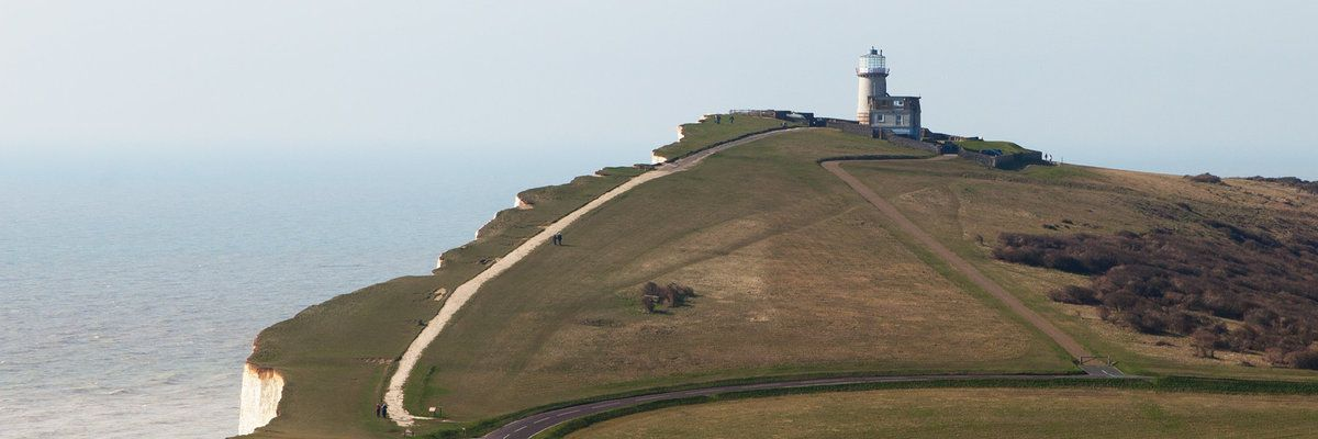 Coast and Lighthouse in Dover, England