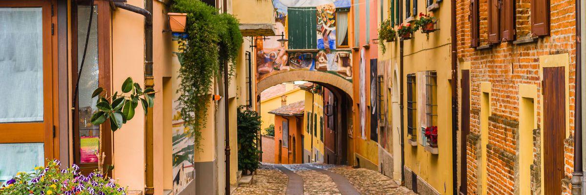 Dozza Village near Bologna, Italy