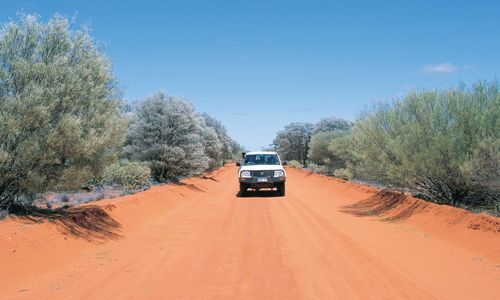 Driving in the Outback, Western Australia, Australia