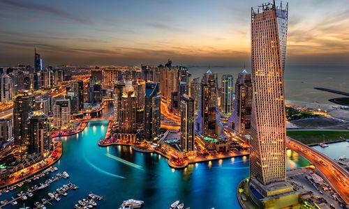 Palm-island and skyline, Dubai