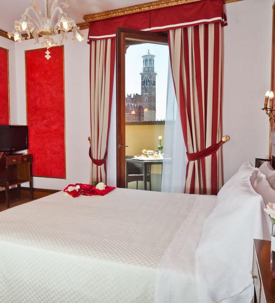Due Torri Hotel with Piazza delle Erbe view