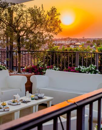 Roof terrace, Due Torri Hotel