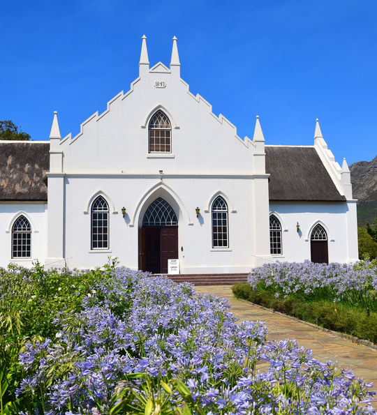Dutch Reform Church in Franschhoek in South Africa