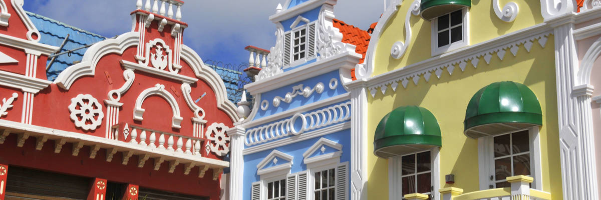 Dutch architecture, Center square in Oranjestad, Aruba