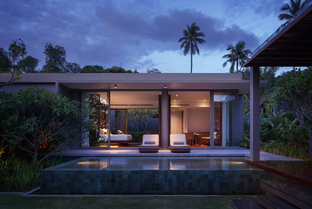 Villa at sunset, Alila Villas, Koh Russey, Cambodia