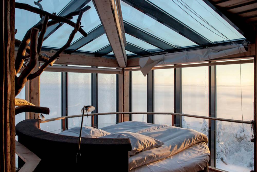 Eagles View Suite bedroom, Iso-Syote, Finland