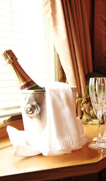 In-cabin champagne, Eastern & Oriental Express