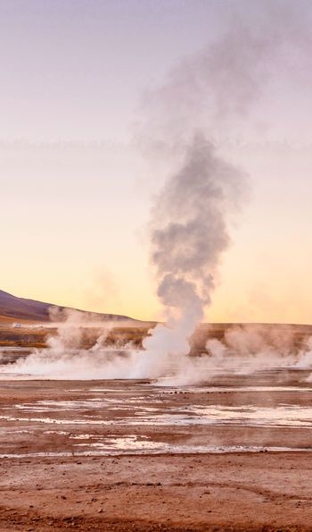El Tatio Geyser in Atacama Desert, Chile
