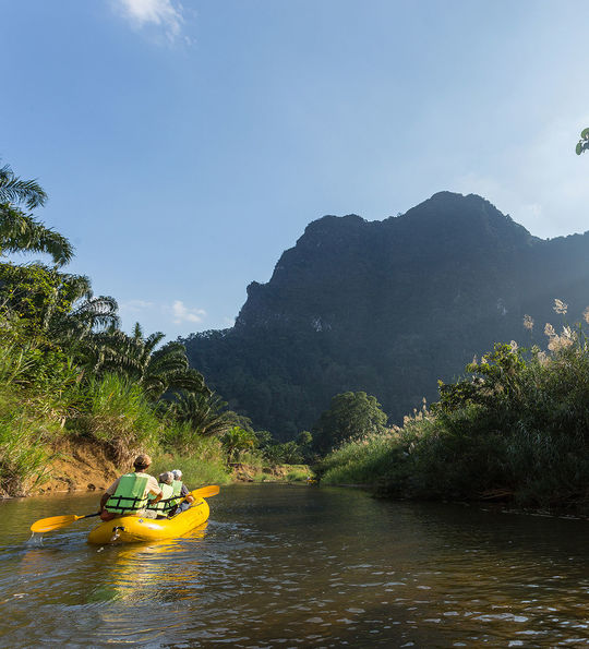 Kayaking with Elephant Hills Luxury Tented Camp, Khao Sok National Park, Thailand