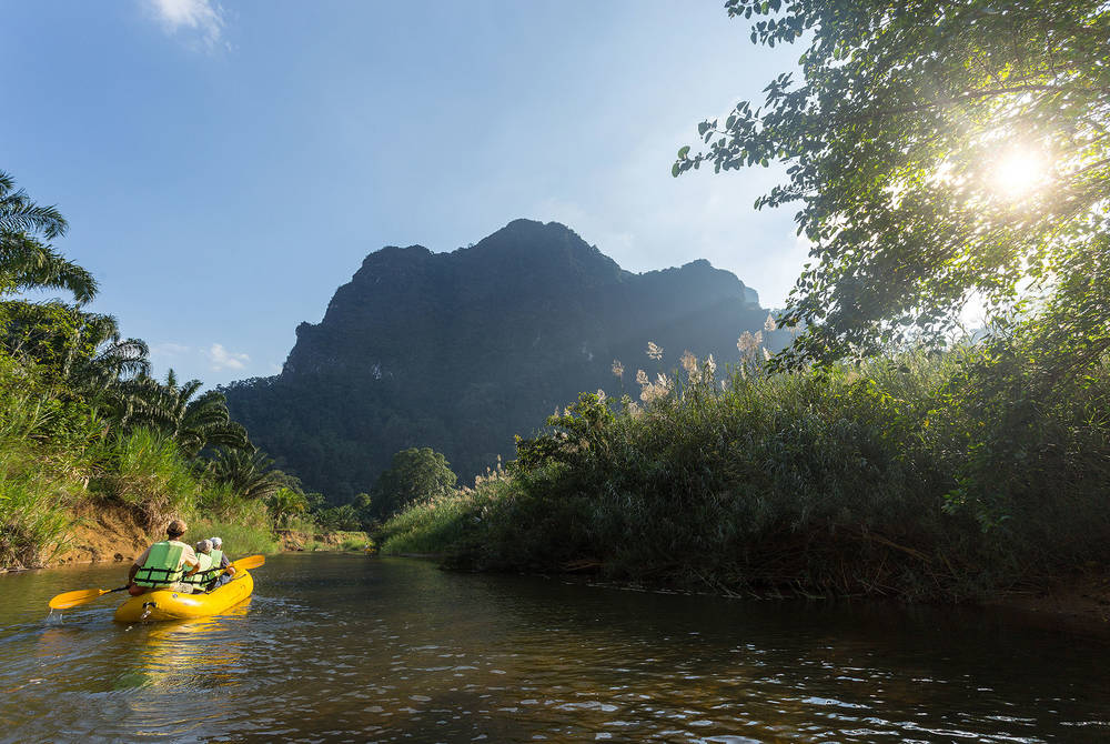 Canoe through the beautiful scenery